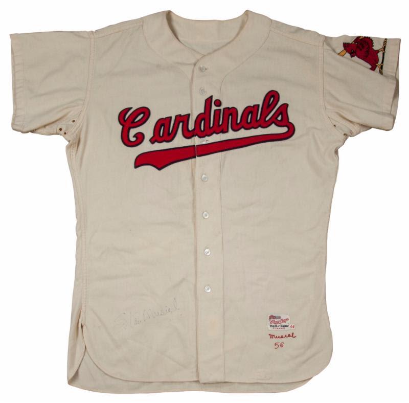Game worn Stan Musial jersey 1986
