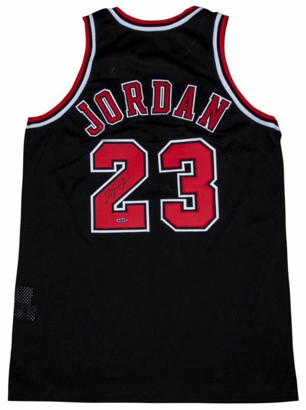 Michael Jordan pinstripe game worn jersey