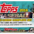 2016 Topps Mini Baseball set