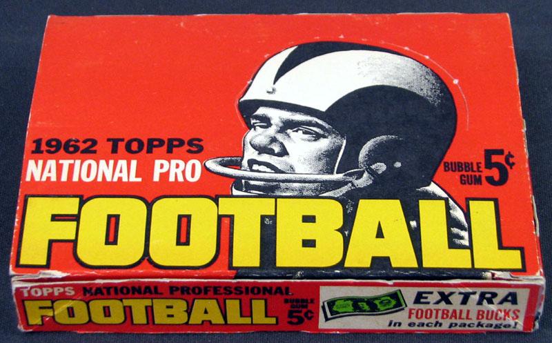 Topps 1962 football box