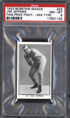Jim Jefferies 1923 Burstein Isaacs boxing card