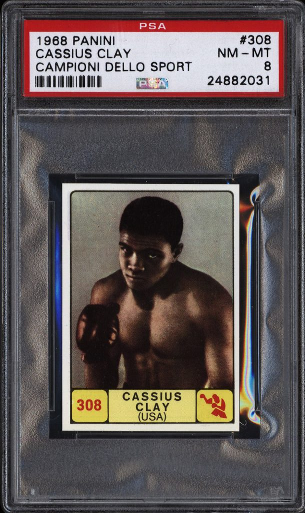 Cassius Clay 1968 Panini boxing card