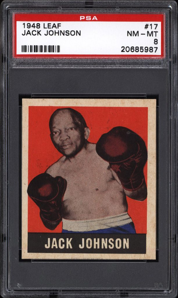 Jack Johnson 1948 Leaf Boxing card