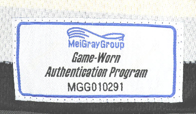 MeiGray game worn tag