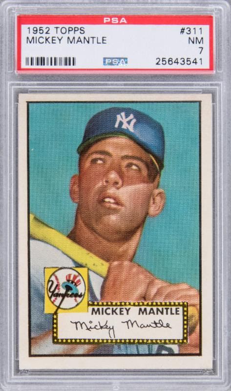 Mickey Mantle PSA 7 1952 Topps card
