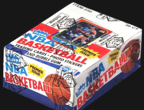 Fleer 1986-87 wax box
