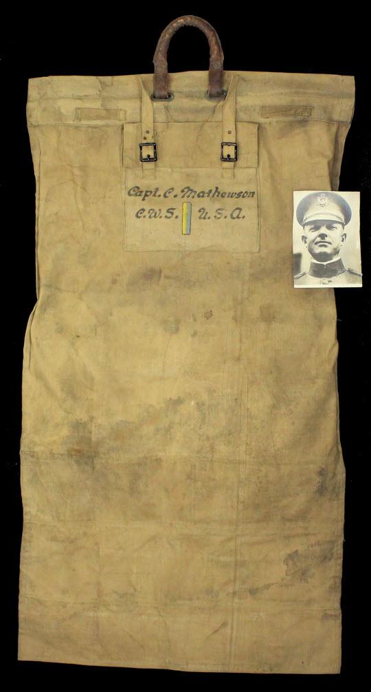 Christy Mathewson WWI garment bag