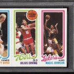 Magic Johnson-Larry Bird rookie card PSA 10