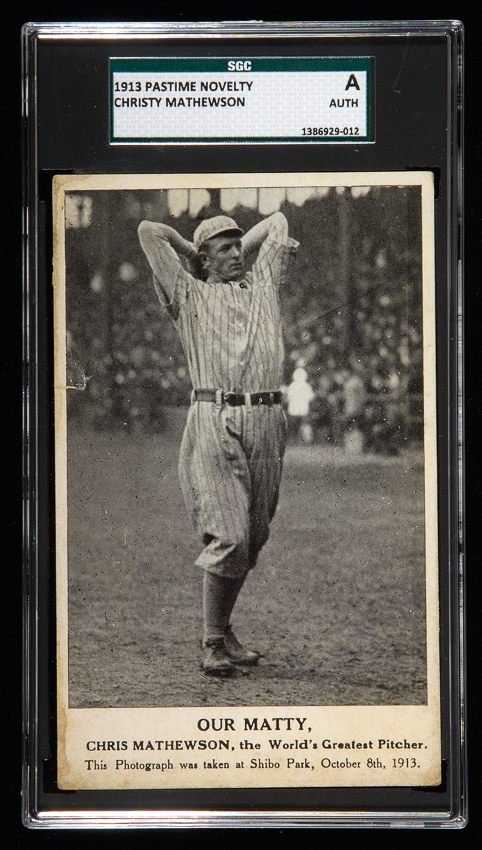 1913 Christy Mathewson postcard
