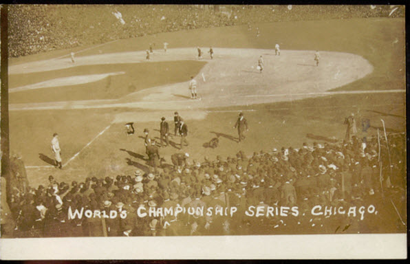1907 World Series postcard