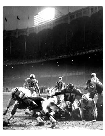 1958 NFL championship game Neil Leifer photo