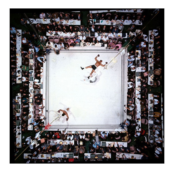 Ali photo Neil Leifer above ring