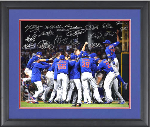cubs-championship-celebration-autographed-photo-world-series