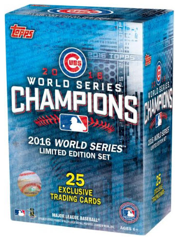 2016 Topps Cubs World Series boxed card set