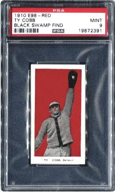 Ty Cobb 1910 E98 Black Swamp Find