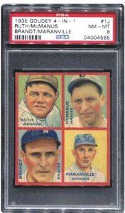 Babe Ruth 1935 Goudey PSA 8