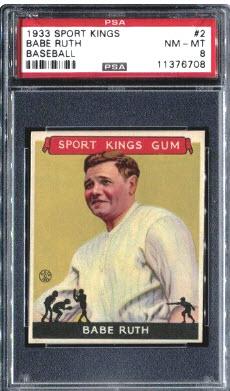 Babe Ruth 1933 Goudey Sport Kings PSA 8