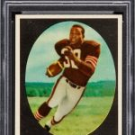 Jim Brown rookie card PSA 9