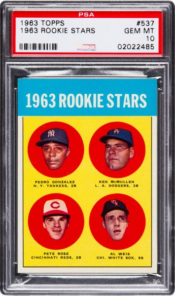 Pete Rose 1963 rookie card Topps