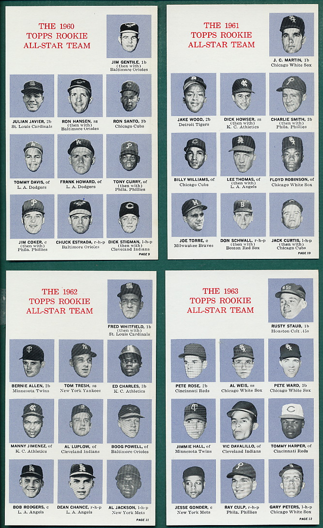 Topps Banquet cards 1964
