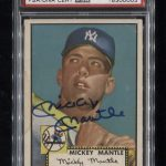 Signed 1952 Topps Mickey Mantle