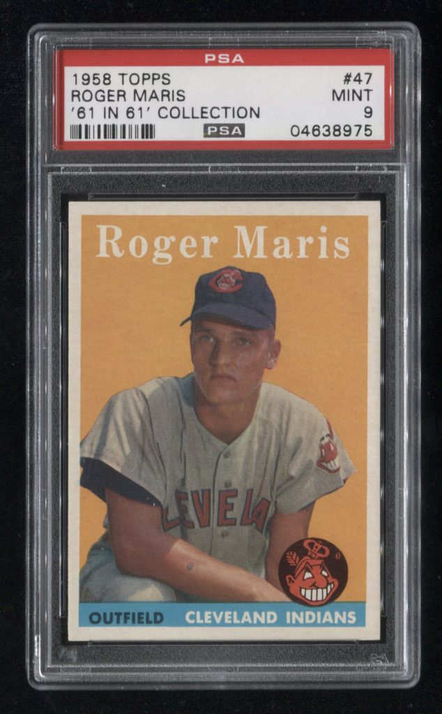 Roger Maris rookie card mint 9