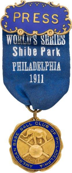 1911-world-series-press-pin