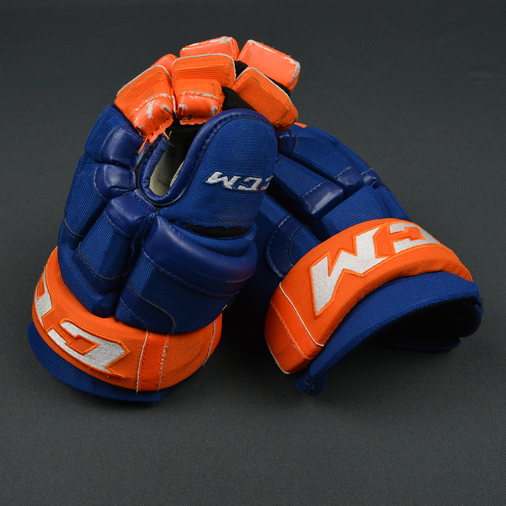 Game-used Connor McDavid gloves
