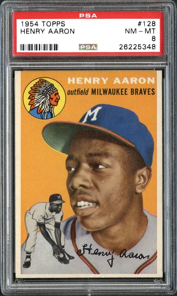 Hank Aaron rookie card PSA 8