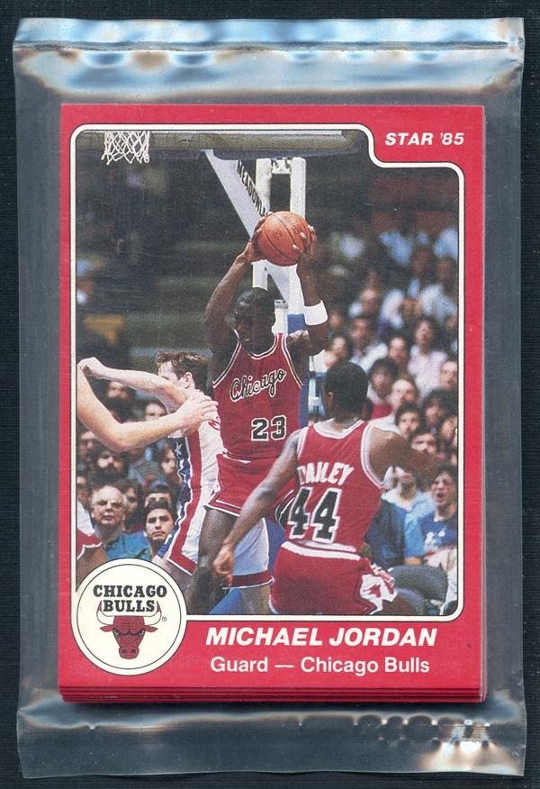 Michael Jordan Bulls team set Star Company basketball 1984-85