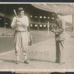 1928 Babe Ruth photo Herb Pennock