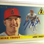 Mike Trout 65th anniversary Topps party signed card