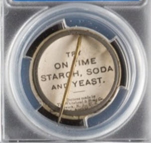 1897 On Time Starch pin