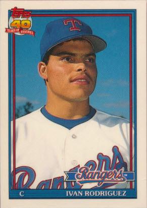 Ivan Rodriguez 1991 Topps Tiffany