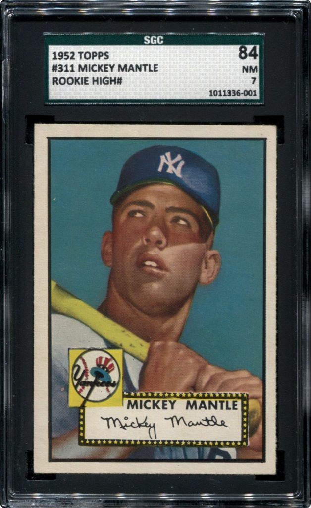 Mickey Mantle SGC 84 1952 Topps