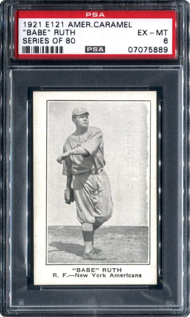 Babe Ruth card 1921 American Caramel
