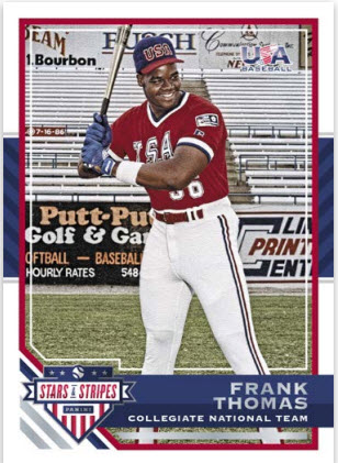 Frank Thomas Panini Stars Stripes 2017 base card