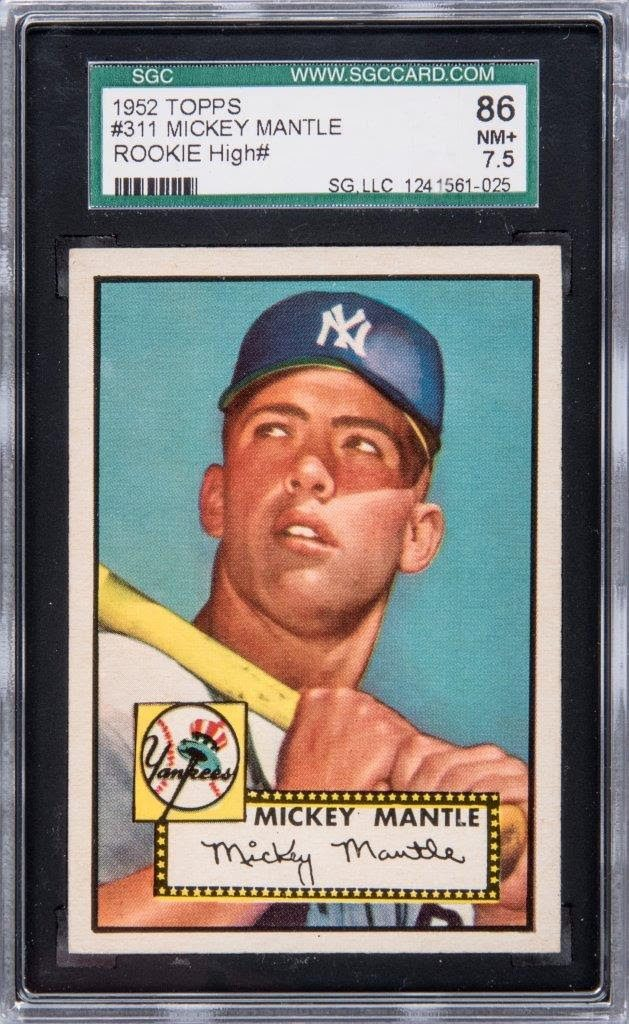 Mickey Mantle 1952 Topps SGC 86