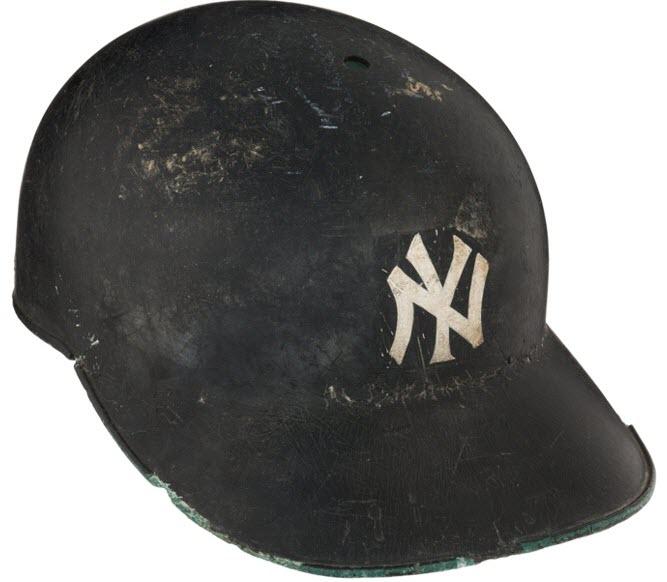 Mickey Mantle game-used helmet