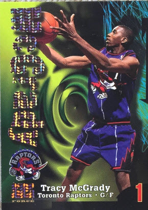 `Tracy McGrady rookie card Skybox ZForce