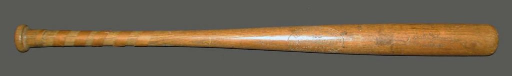 Game used Walter Johnson bat