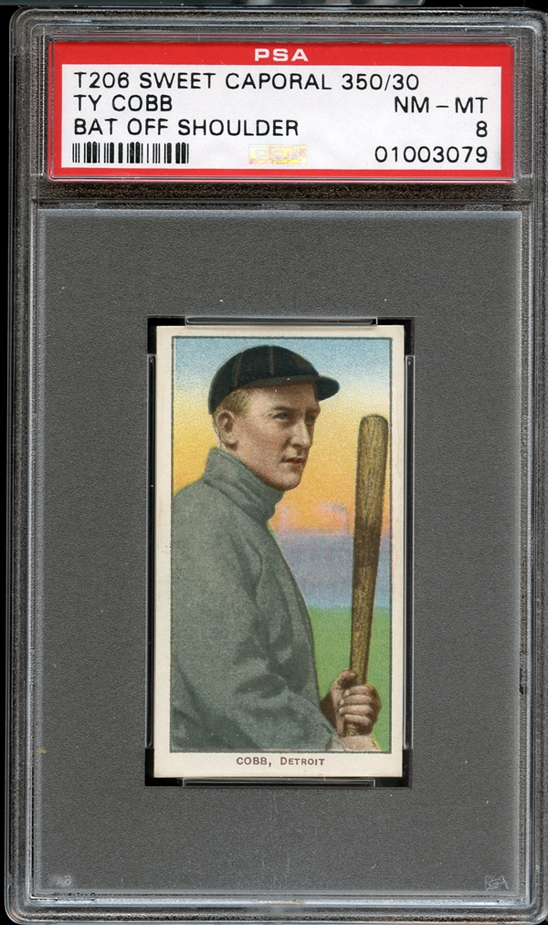 Ty Cobb T206 bat shoulder PSA 8