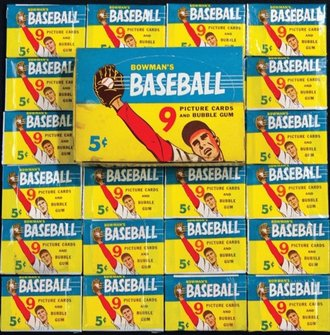 1955 Bowman baseball box