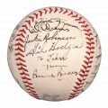 Brooklyn Dodgers 1950 autographed baseball