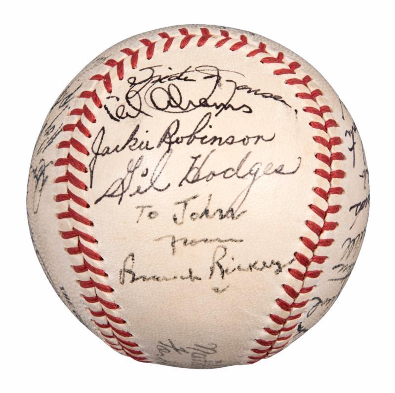 Brooklyn Dodgers 1950 autographed baseball