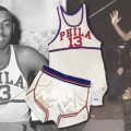 Game worn Wilt Chamberlain jersey rookie