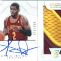 2012-13 National Treasures Kyrie Irving autographed patch card