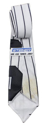 Game used jersey necktie Yankees