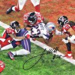 Autographed James White Super Bowl touchdown photo