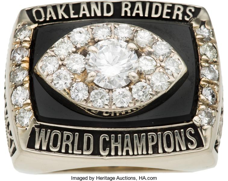 Bill King Raiders Super Bowl XI ring